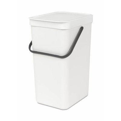 Brabantia Sort&Go afvalemmer - 16 liter - wit