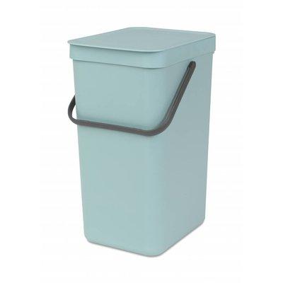 Brabantia Sort&Go afvalemmer - 16 liter - mint