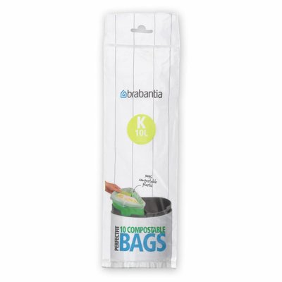 Brabantia Composteerbare afvalzak - K - 10 liter - 10 stuks (touchbin)