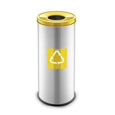 Easybin Eco flex round - 45 liter - yellow