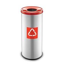 Easybin Eco flex round - 45 liter - red