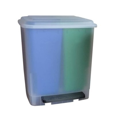 Easybin Afvalbak duo recycle 20 - transparant