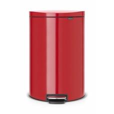 Brabantia Flatback pedaalemmer - 40 liter - passion red