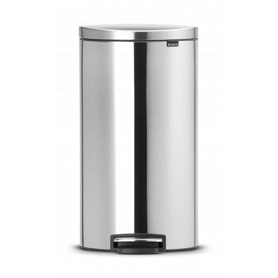 Brabantia Flatback pedaalemmer - 40 liter - matt steel FP