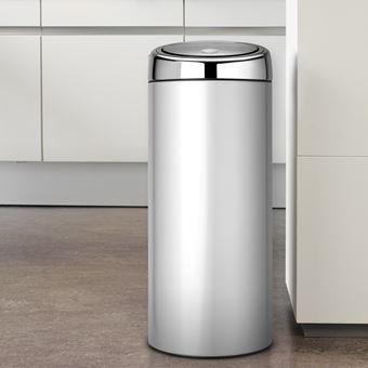 Brabantia 30 Liter Afvalemmer.Brabantia Touch Bin 30 Liter Afval In De Keuken