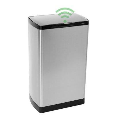 Easybin Afvalbak silver flatline 40 sensor - rvs mat
