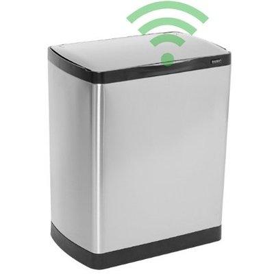 Easybin Afvalbak silver flatline 30 sensor - rvs mat