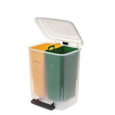 Faplana Recycle Bin Duo (2x10 liter) (Geel/Groen)