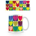 VALENTINES DAY POP ART HEARTS MUG
