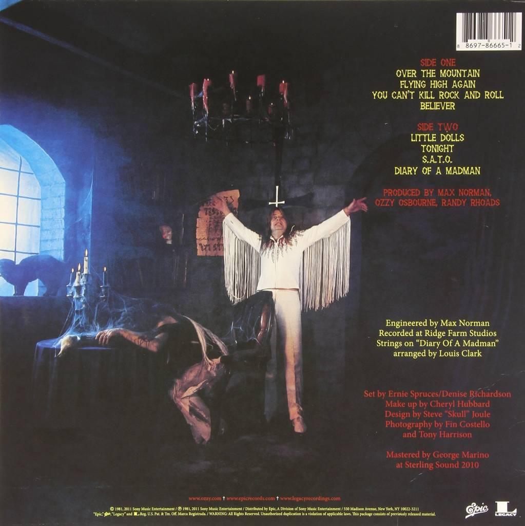 madman vinile  OZZY OSBOURNE - DIARY OF A MADMAN (Vinyl) -