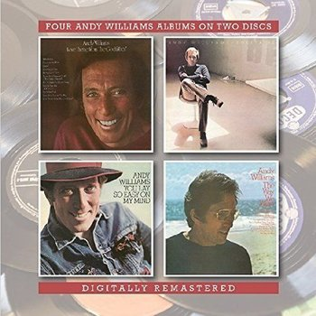 """BGO Records,  ANDY WILLIAMS - LOVE THEME FROM """"THE GODFATHER""""/ SOLITAIRE / THE WAY WE WERE / YOU LAY SO EASY ON MY MIND (2 CD SET)"""