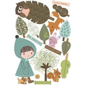 Chocovenyl Muurstickers In het bos