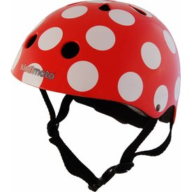 Kiddimoto Skate- & fietshelm 'red dotty' | Kiddimoto