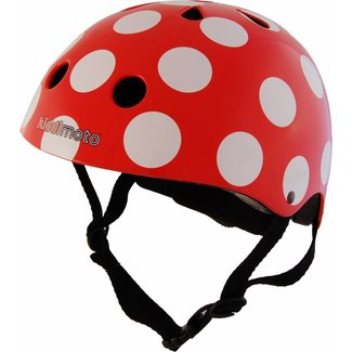 Kiddimoto Skate- & fietshelm 'red dotty' | Kiddimoto