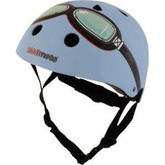 Kiddimoto Skate- & fietshelm blauw met bril | Kiddimoto