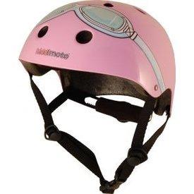 Kiddimoto Skate- & fietshelm roze met bril | Kiddimoto