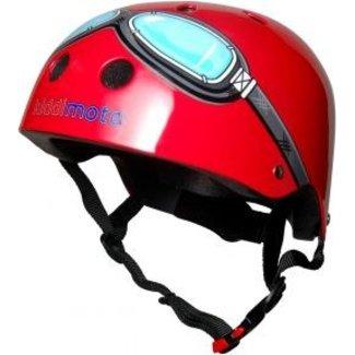 Kiddimoto Skate- & fietshelm rood met bril   Kiddimoto