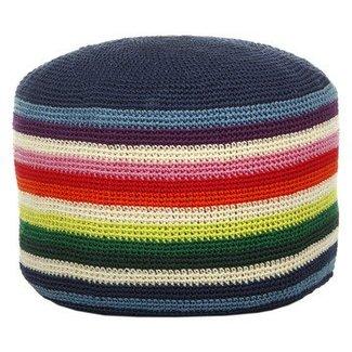 Anne-Claire Petit Gestreepte pouffe crochet mix stripe I Anne-Claire Petit
