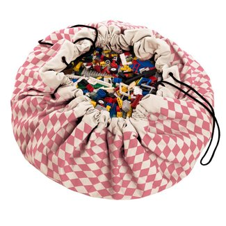Play&Go Opbergzak en speelmat - Diamond roze | Play&Go