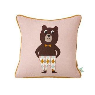 Ferm Living Vierkant kussen Mr. Bear   Ferm Living