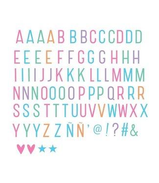 A Little Lovely Company Letterset Pastel voor lightbox   A little lovely company