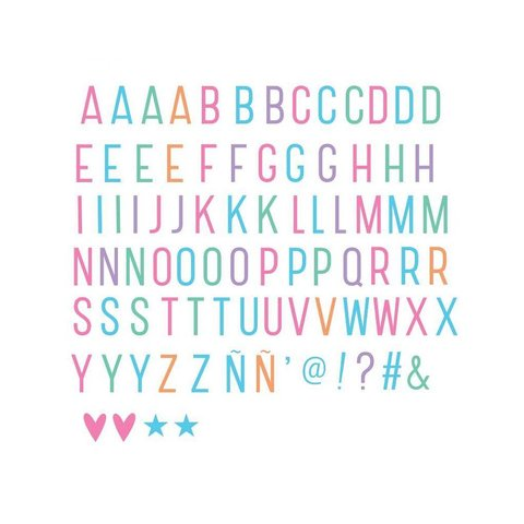 Letterset Pastel voor lightbox   A little lovely company