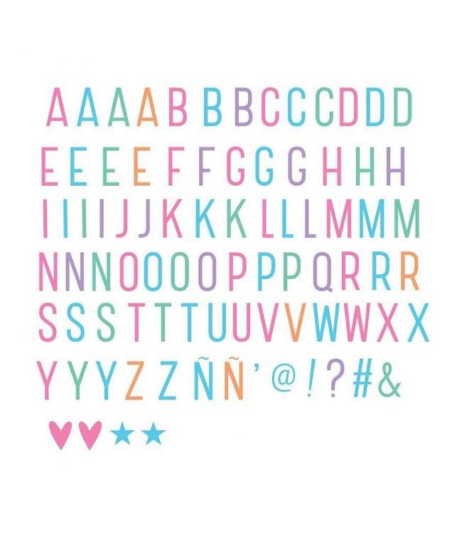 A Little Lovely Company Letterset Pastel voor lightbox | A little lovely company
