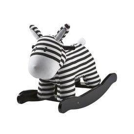 Kid's Concept Schommelpaardje 'Rocking horse' zwart/wit | Kid's concept