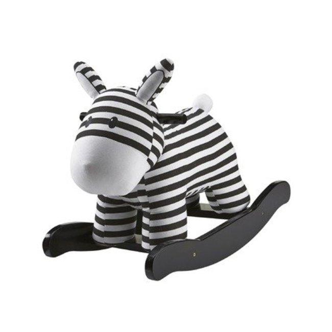 Kid's Concept Schommelpaardje 'Rocking horse' zwart/wit   Kid's concept