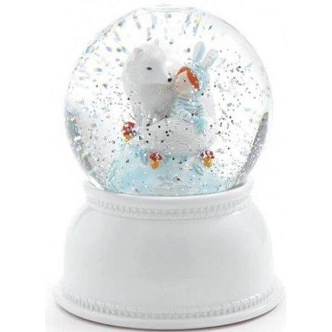 Nachtlampje en sneeuwbol 'lila & pupi' | Djeco