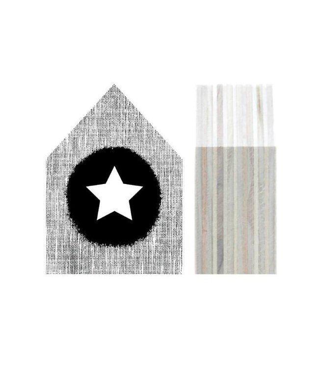 Dots Lifestyle Houten huisje - Star black | Dots Lifestyle