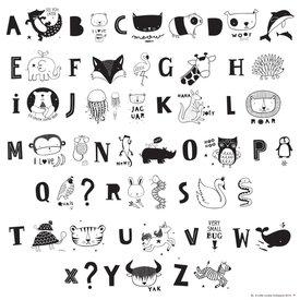 A Little Lovely Company Letterset ABC Zwart voor lightbox | A little lovely company
