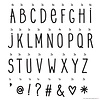 Letterset Hand drawn voor lightbox | A little lovely company