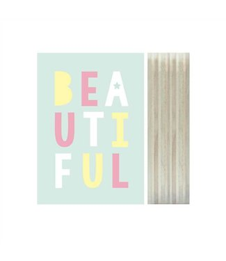 Dots Lifestyle Print on wood - Beautiful | Dots Lifestyle