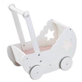 Kid's Concept Poppenwagen met bedset wit   Kid's concept