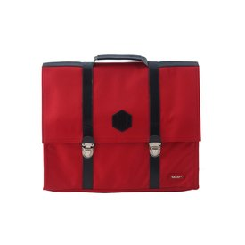 Bakker made with Love Schooltas cordura groot Rood | Bakker made with love