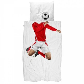 Snurk Dekbedovertrek Voetbal Rood | Snurk
