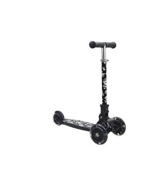 Kiddimoto Step met 3 wielen - U-Zoom Skullz | Kiddimoto