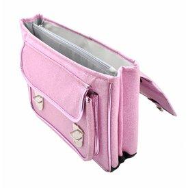 Caramel & Cie. Boekentas / Schooltas Glitter Roze MEDIUM | Caramel & Cie