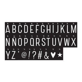 A Little Lovely Company Letterset monochrome voor lightbox | A little lovely company