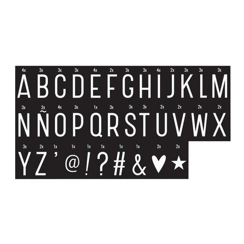 Letterset monochrome voor lightbox   A little lovely company