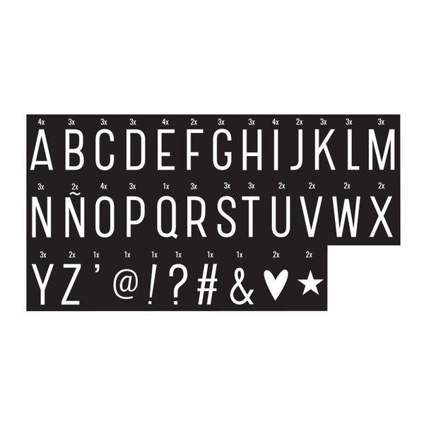 A Little Lovely Company Letterset monochrome voor lightbox   A little lovely company