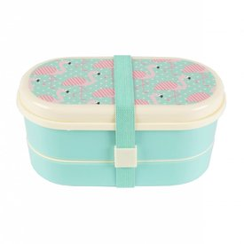 Sass & Belle Lunchbox bento pink flamingo | Sass & Belle
