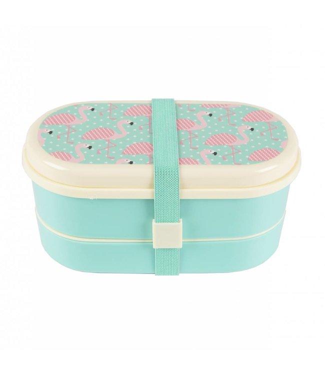 Sass & Belle Brooddoos / Lunchbox bento pink flamingo | Sass & Belle