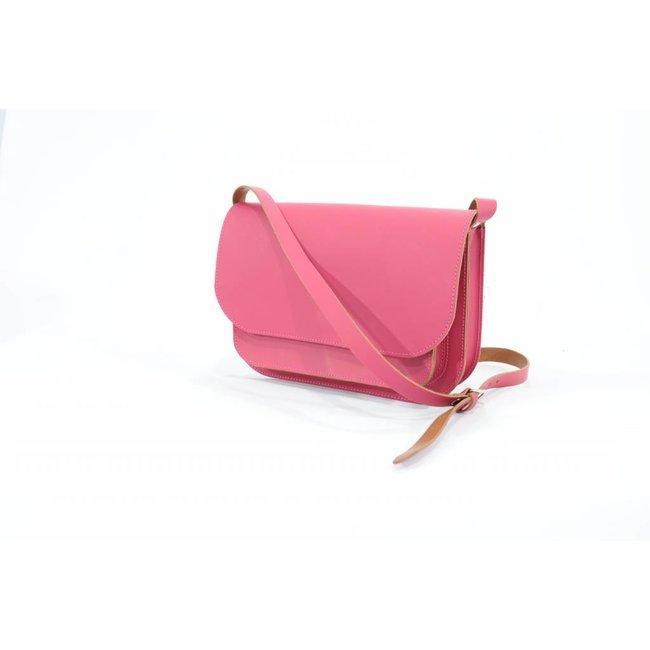 Own Stuff Lederen handtas Roze | Own Stuff