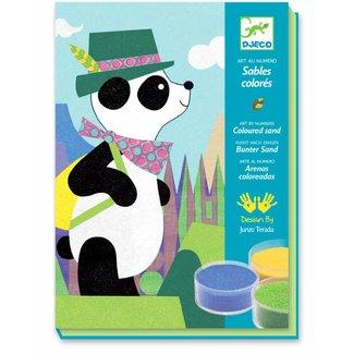 Djeco Knutseldoos Gekleurd Zand Panda | Djeco