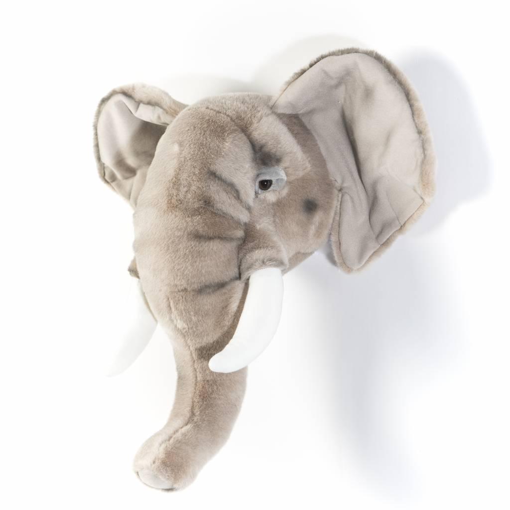 Dierenkop trophy olifant george wild soft - Trophy olifant kartonnen ...