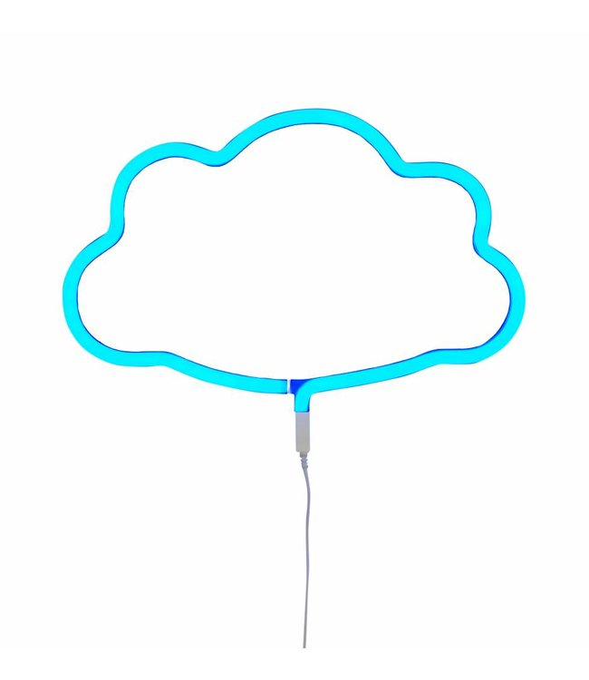 A Little Lovely Company Neon Lamp Wolk Blauw | A Little Lovely Company