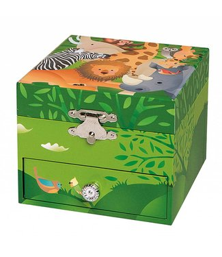 Trousselier Muziekdoosje Jungle Vierkant | Trousselier