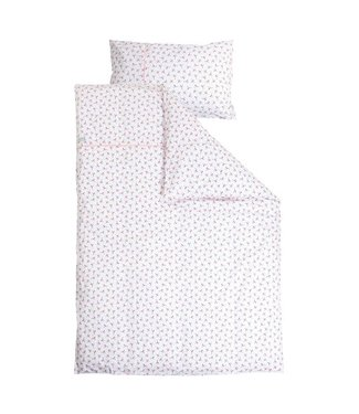 Little Dutch Dekbedovertrek ledikant - Peach Poppy (100 x 140 cm) | Little Dutch